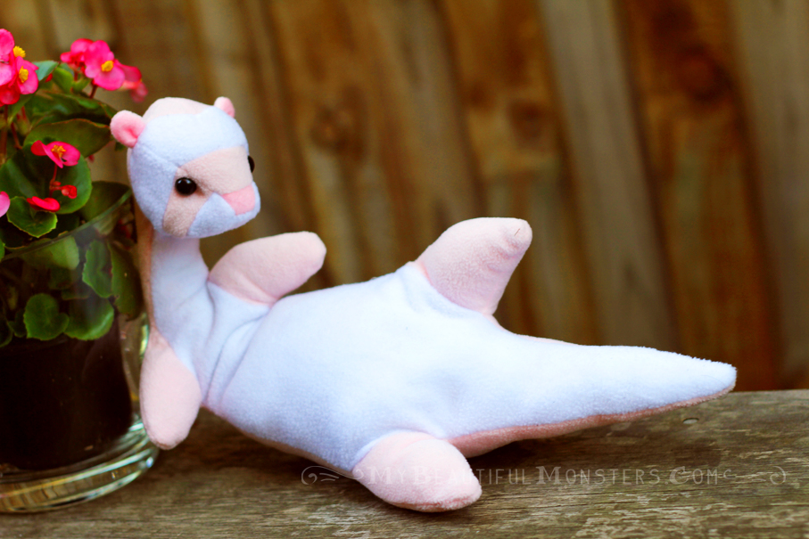 Pink Plush Ferret by MyBeautifulMonsters
