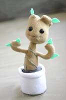 Chibi Baby Groot plush toy by MyBeautifulMonsters