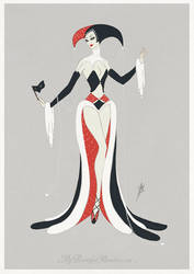 Art Deco Harley Quinn