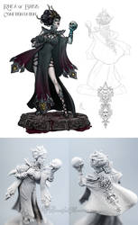 Rhea of Brisis - Confrontation Miniature Concept by MyBeautifulMonsters