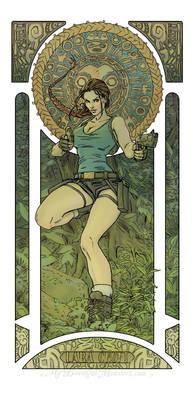 Lara Croft - Art Nouveau