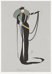 Art Deco - Catwoman by MyBeautifulMonsters