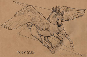 Pegasus - Inktober 2016 by MyBeautifulMonsters