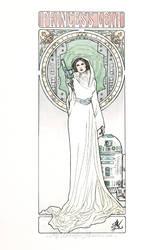 Princess Leia Art Nouveau by MyBeautifulMonsters