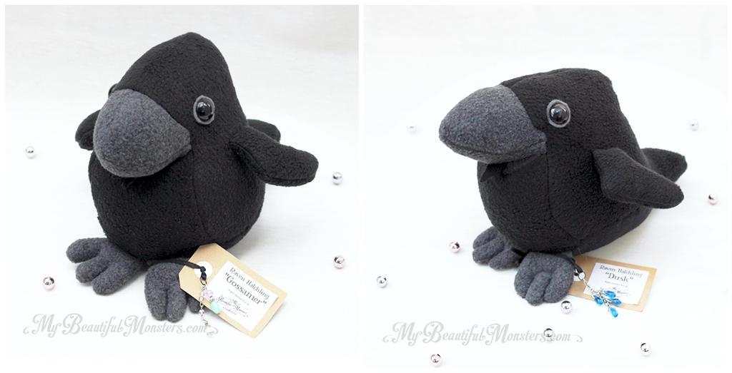 Raven Hatchling Plush Toys by MyBeautifulMonsters