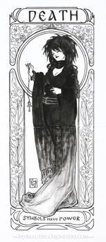 Art Nouveau Death of the Endless Commisson