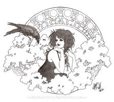 Death Art Nouveau Portrait