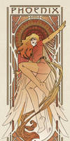 Art Nouveau Phoenix by MyBeautifulMonsters