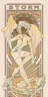 Art Nouveau Storm by MyBeautifulMonsters