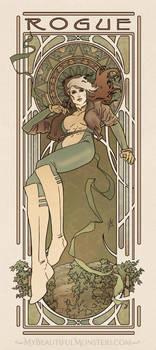 Art Nouveau Rogue by MyBeautifulMonsters
