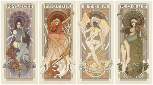 Art Nouveau Ladies of X-men