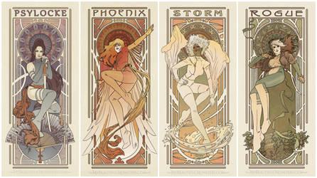 Art Nouveau Ladies of X-men