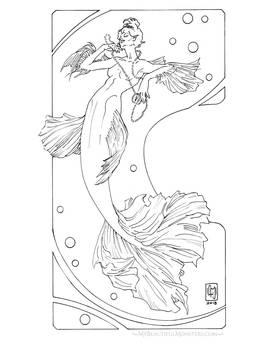 Pearl Mermaid by MyBeautifulMonsters