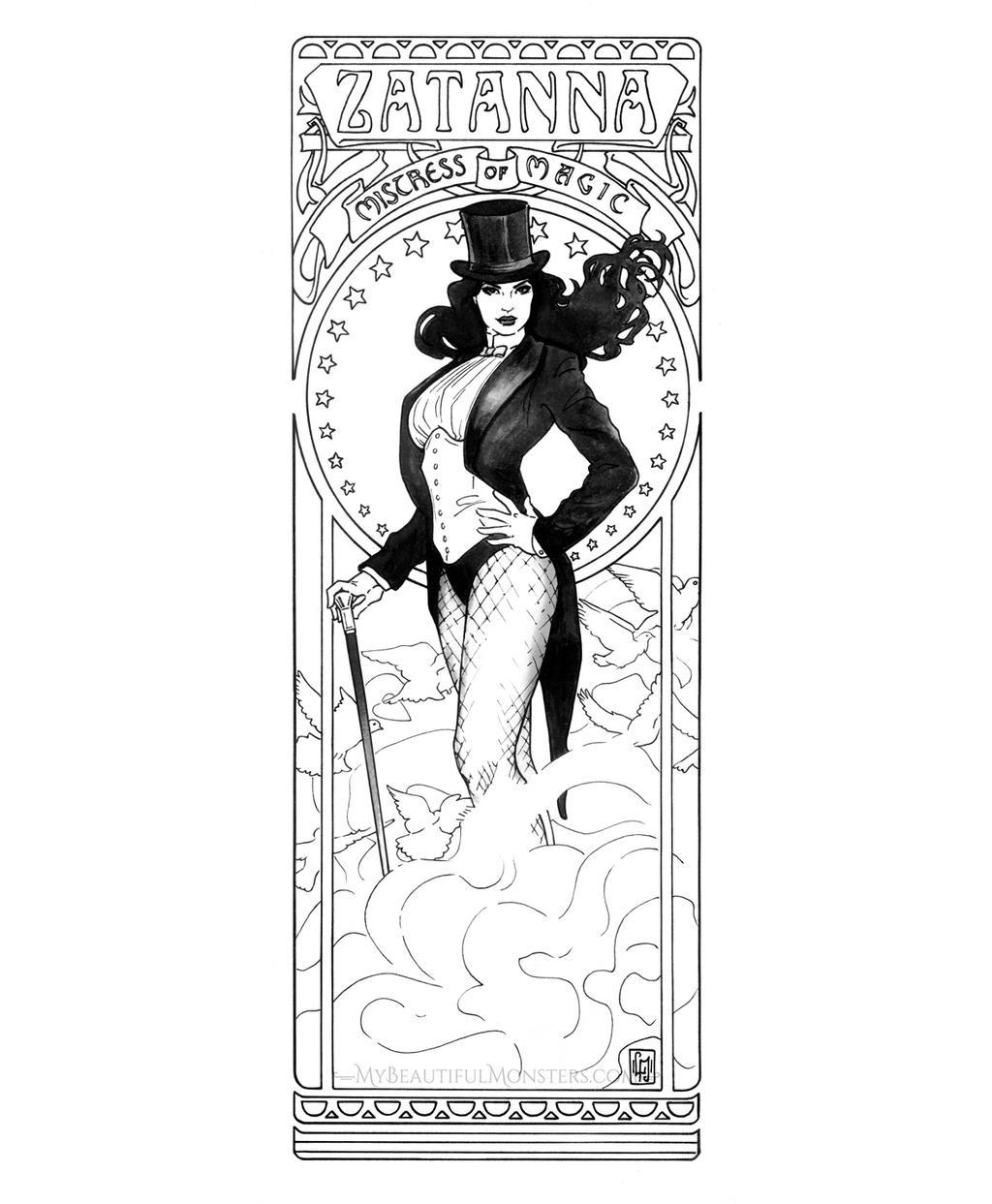 Art Nouveau Zatanna Commission