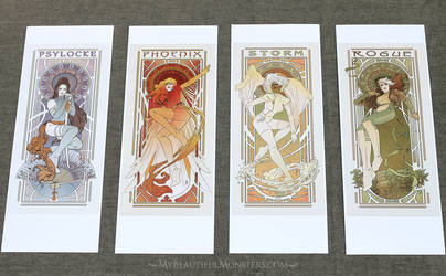 Ladies of X-Men Art Nouveau Prints for Sale by MyBeautifulMonsters