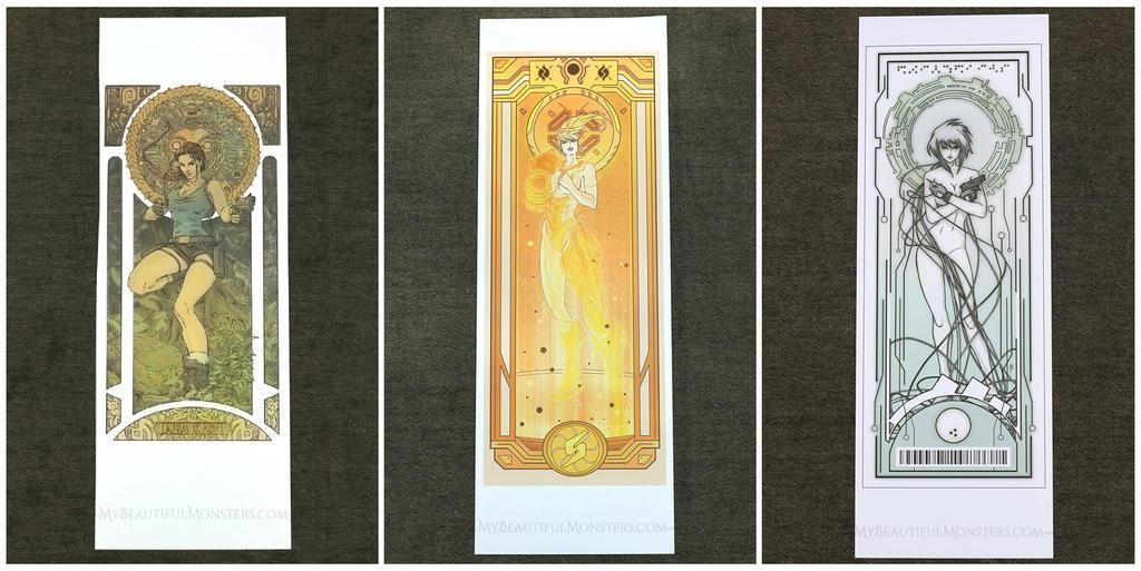 Gamer Girl Gang Art Nouveau Print Sale