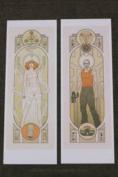 Fifth Element Pair Print MISPRINT DISCOUNT SALE