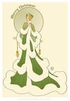 'Snowy Fir'- Art Deco Christmas Flora Fashion by MyBeautifulMonsters