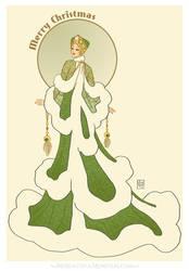 'Snowy Fir'- Art Deco Christmas Flora Fashion
