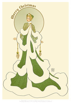'Snowy Fir'- Art Deco Christmas Flora Fashion