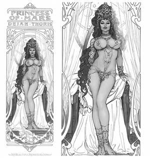 Dejah Thoris Art Nouveau Commission