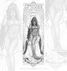 Dejah Thoris Art Nouveau Commission by MyBeautifulMonsters