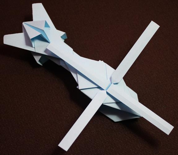 Origami Helicopter By Kamitoyz On Deviantart