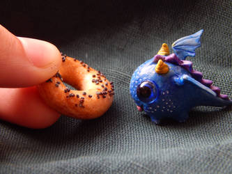 Mimimi blue baby dragon by RedPersik