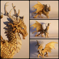 [COMISSION] Golden Dragon with Kirin roots by RedPersik