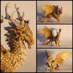 [COMISSION] Golden Dragon with Kirin roots