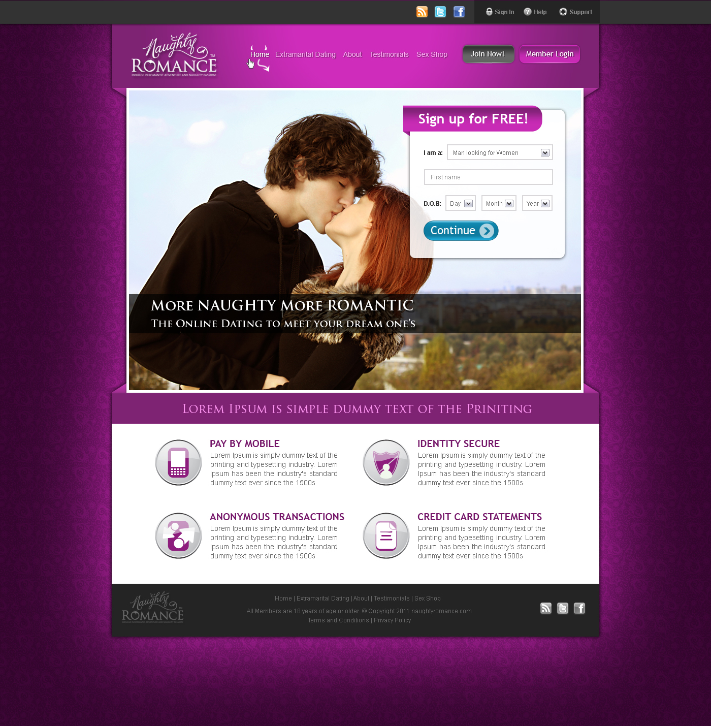 E love dating site