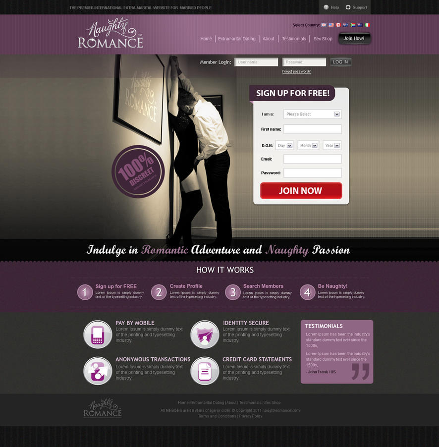 Naughty Romance Adult Dating Site by cherrydavinci ...