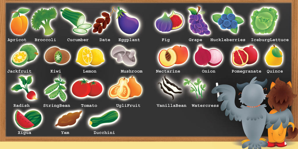 fruits that start with c fruits that start with p