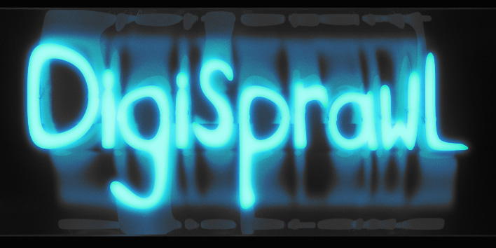 DigiSprawl DeviantArt banner. Rendered in Iray and modeled in Lightwave.