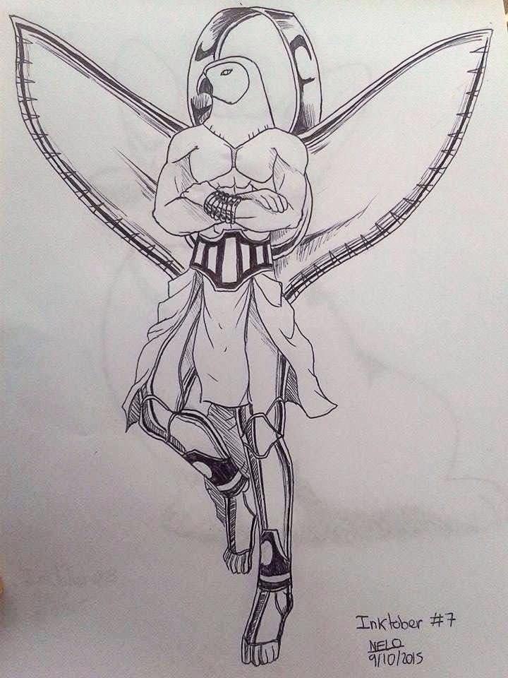Inktober 7 Mecha Horus by puppisama