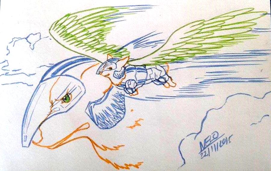 Flying Corgi by puppisama