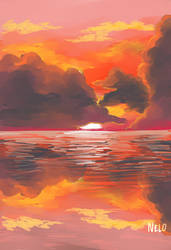 Storm #8 sunset