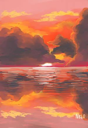 Storm #8 sunset by puppisama
