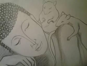 Sleepy Buddha by NanopanoGusano