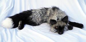 Anyu the Silver Fox Plushie