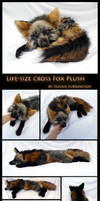 Cross Fox: Life-Size Floppy Plush Detail by TeeganPurrington