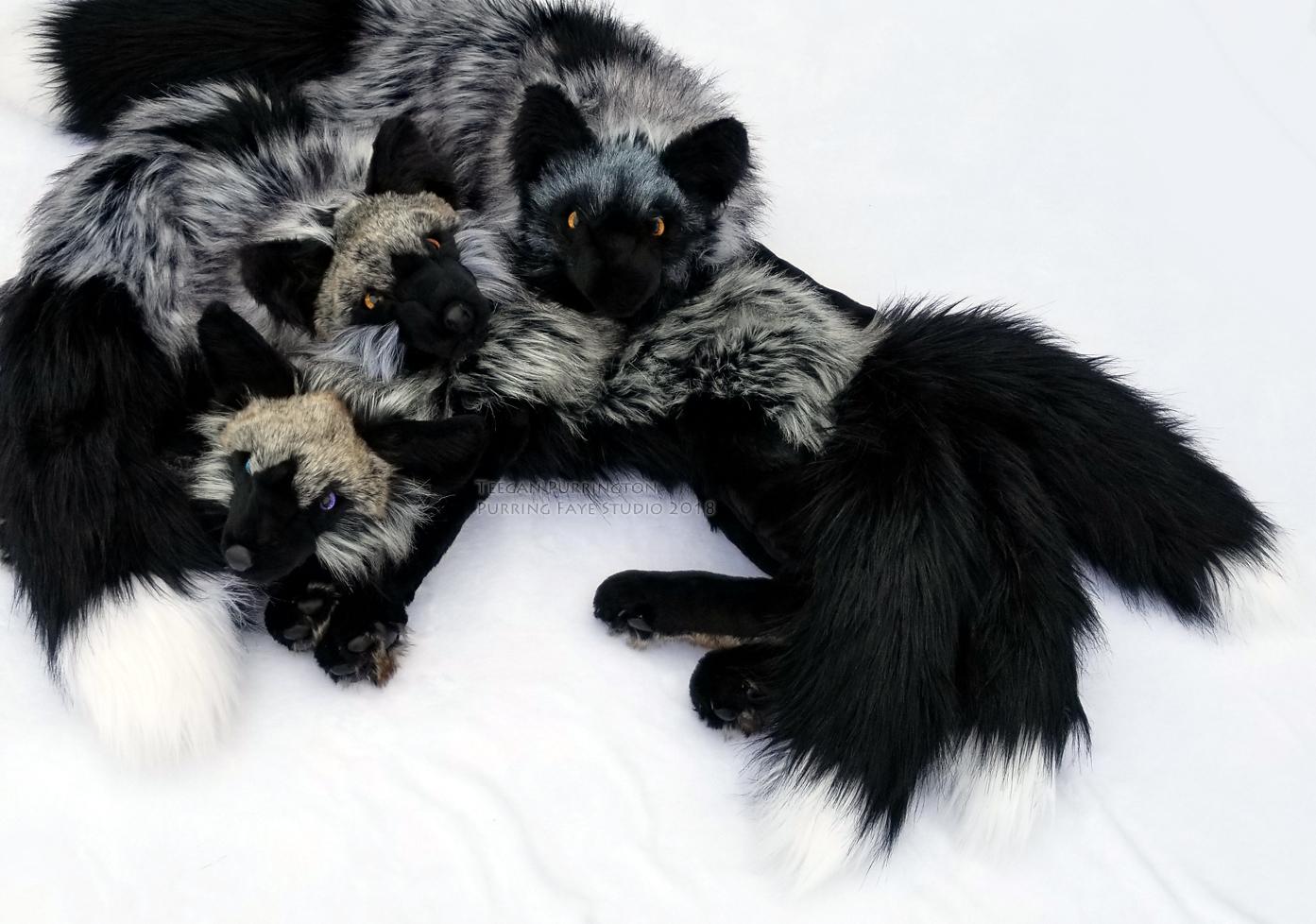 Silver Fox Stuffed Animal, Silver Fox Plushies By Teeganpurrington On Deviantart