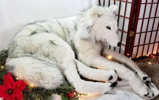 Inara the Life-Size Plush Wolf