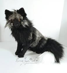 Dark Silver Fox Plush for Adoption
