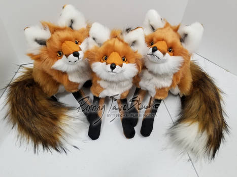 A Skulk of Mini Red Fox Plush