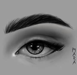 Eye - black and white by kronikinocnejzmory