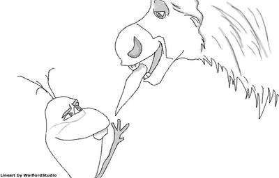 sven and olaf frozen free lineart by wolflordstudio