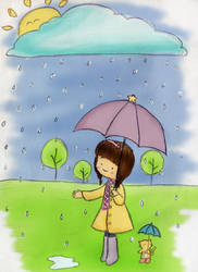 i love rain by simplelookletart