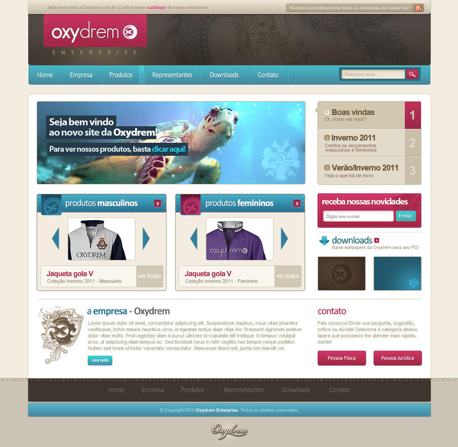 oxydrem enterprise   home by lordvenomtld d397r6y Web Design Interface Collection of Inspiration