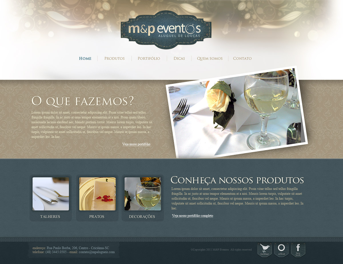 Layout MP Eventos by LordVenomTLD